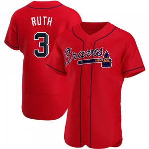 Men's Atlanta Braves Babe Ruth Red Alternate Jersey - Authentic