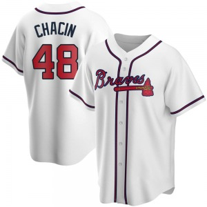 Youth Atlanta Braves Jhoulys Chacin White Home Jersey - Replica