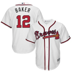 Youth Majestic Atlanta Braves Dusty Baker White Cool Base Home Jersey - Authentic