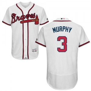 Men's Majestic Atlanta Braves Dale Murphy White Flexbase Collection Jersey - Authentic